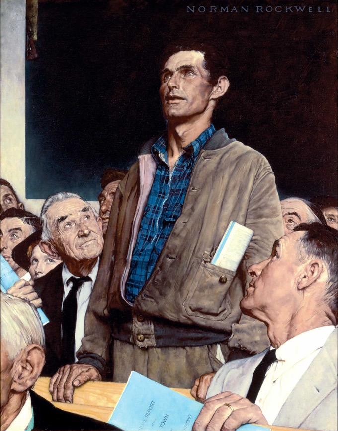 Norman Rockwell's Freedom of Speech