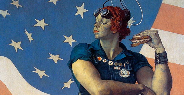 "Norman Rockwell ""Rosie the Riveter""- 1943 painting"