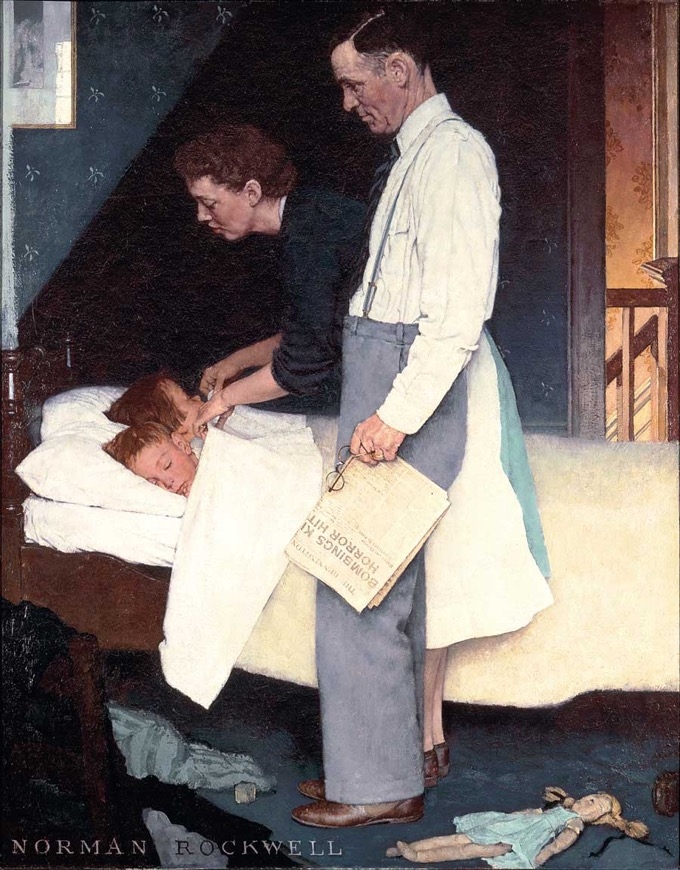 Freedom of Fear- 1943 by Norman Rockwell