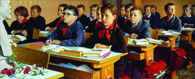 "Norman Rockwell ""Russian Schoolroom""- 1967 paintings"