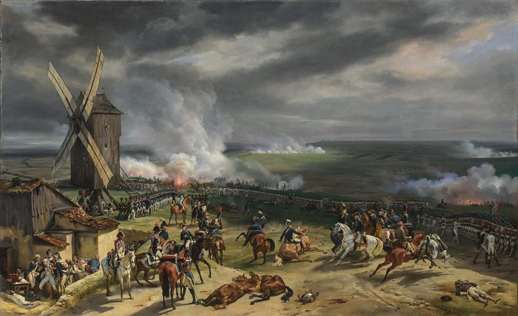 French cannons drive back Prussians at Valmy