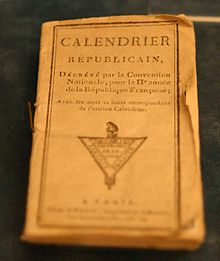 October 5- Republican calendar adopted