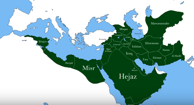 The Abbasid Caliphate 9th largest empire