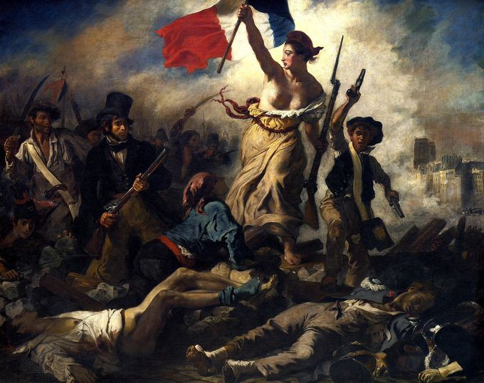 Liberty leading the people Painting by Eugène Delacroix