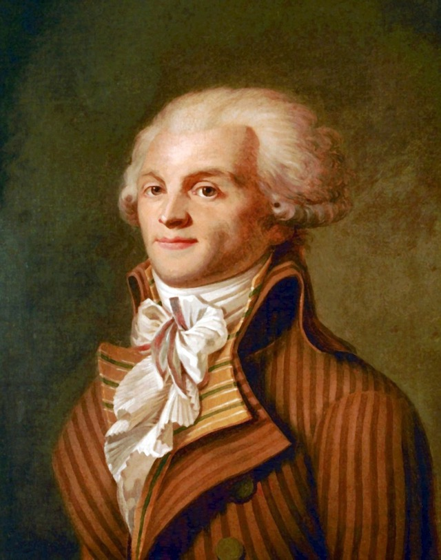french revolution  leader Maximilien Robespierre(1758 - 1794)