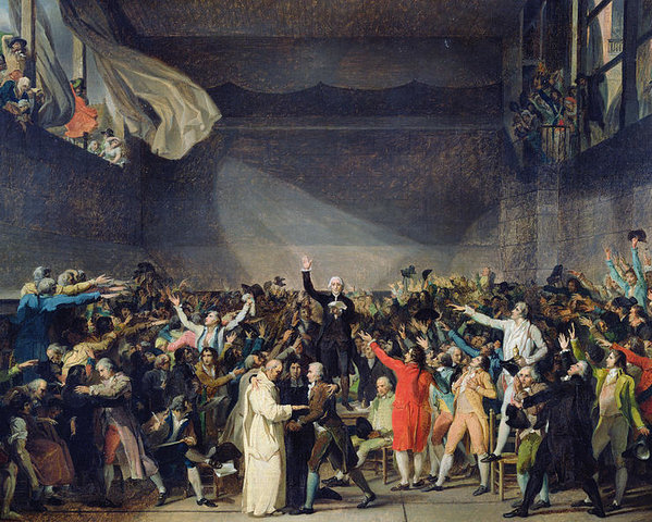 The Tennis Court Oath French revolution