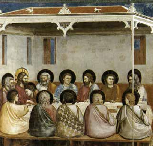 The Last Supper (1306) by Giotto