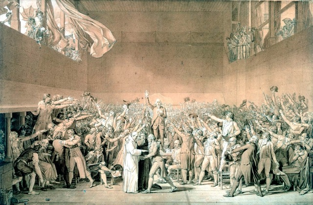 The Tennis Court Oath paintings