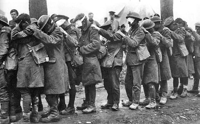 British troops blinded by poison gas