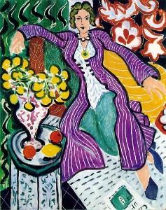 Woman in a Purple Coat Henri Matisse painting