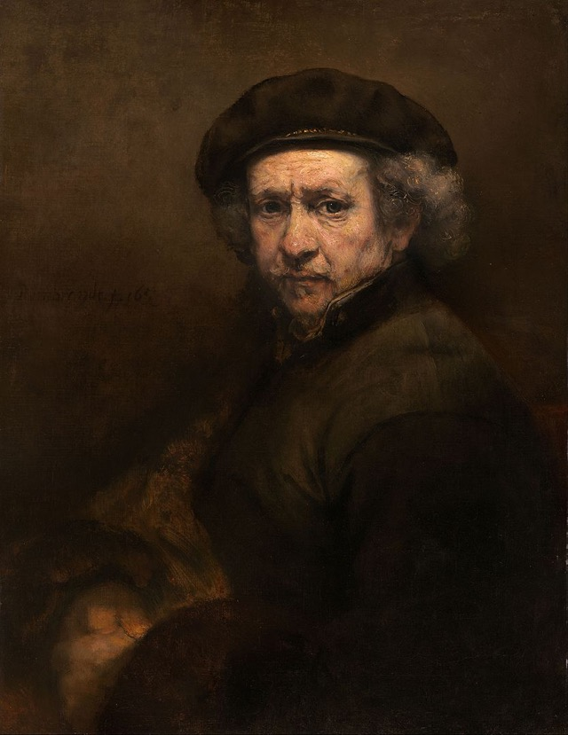 Self Portrait with Beret and Turned-up Collar