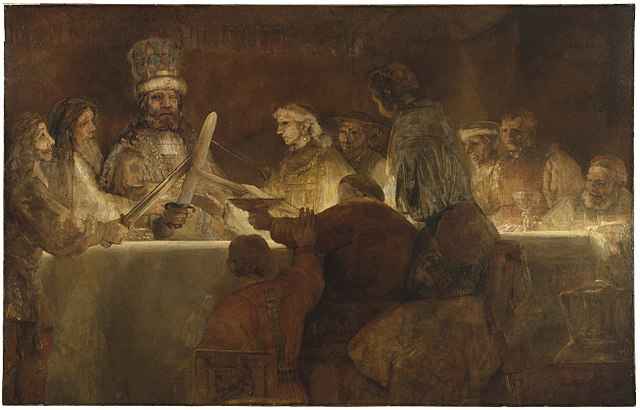 The Conspiracy of Claudius Civilis was the last painting of Rembrandt