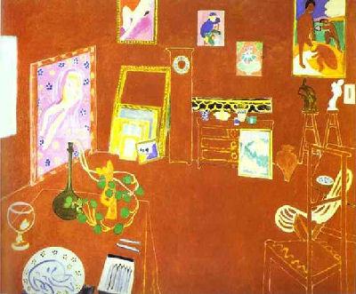 The Red Studio Henri Matisse painting