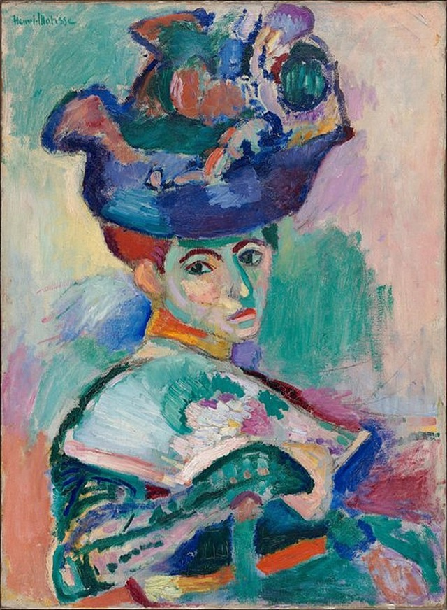 Henri Matisse painting Woman with a hat