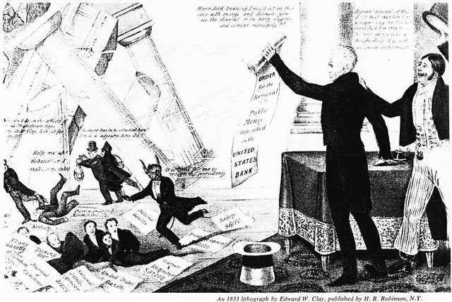 Andrew Jackson Embraced the power by using Vetoes
