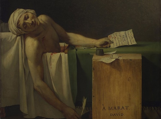 The Death of Marat by Louis David