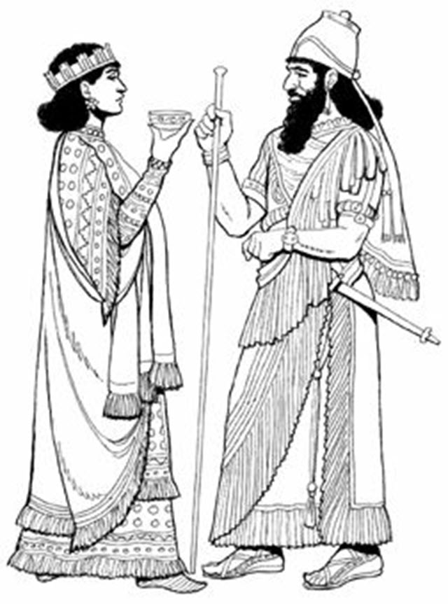 Assyrian King and Queen, 668 BC
