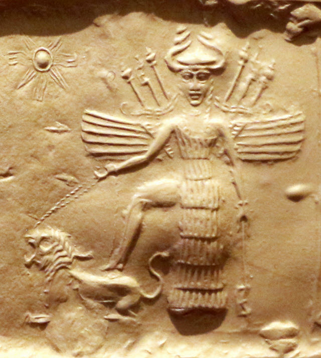 The goddess of love and procreation, Inanna.
