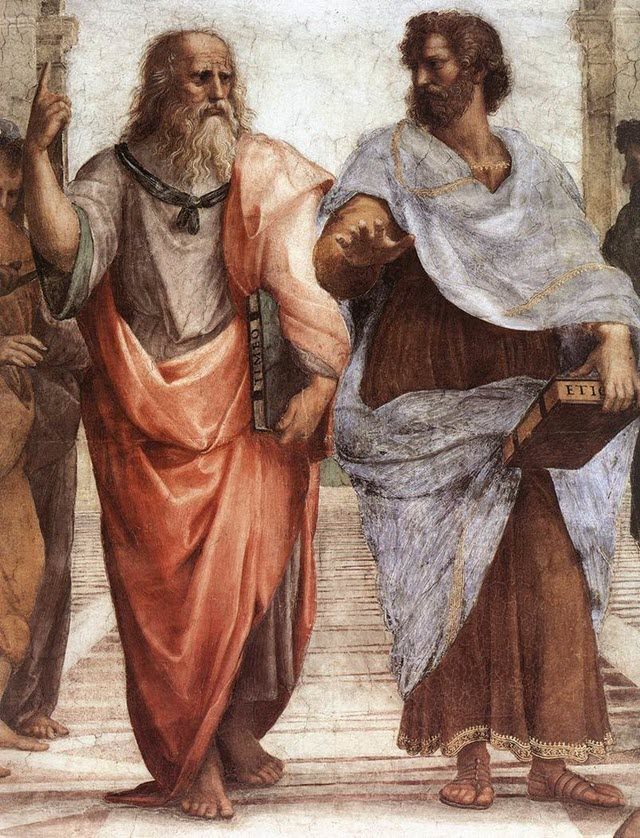 Plato and Aristotle from the school of Athens