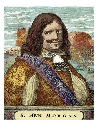 Sir Henry Morgan in a colored picture.