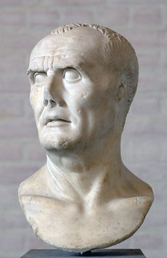 A white bust of Gaius Marius