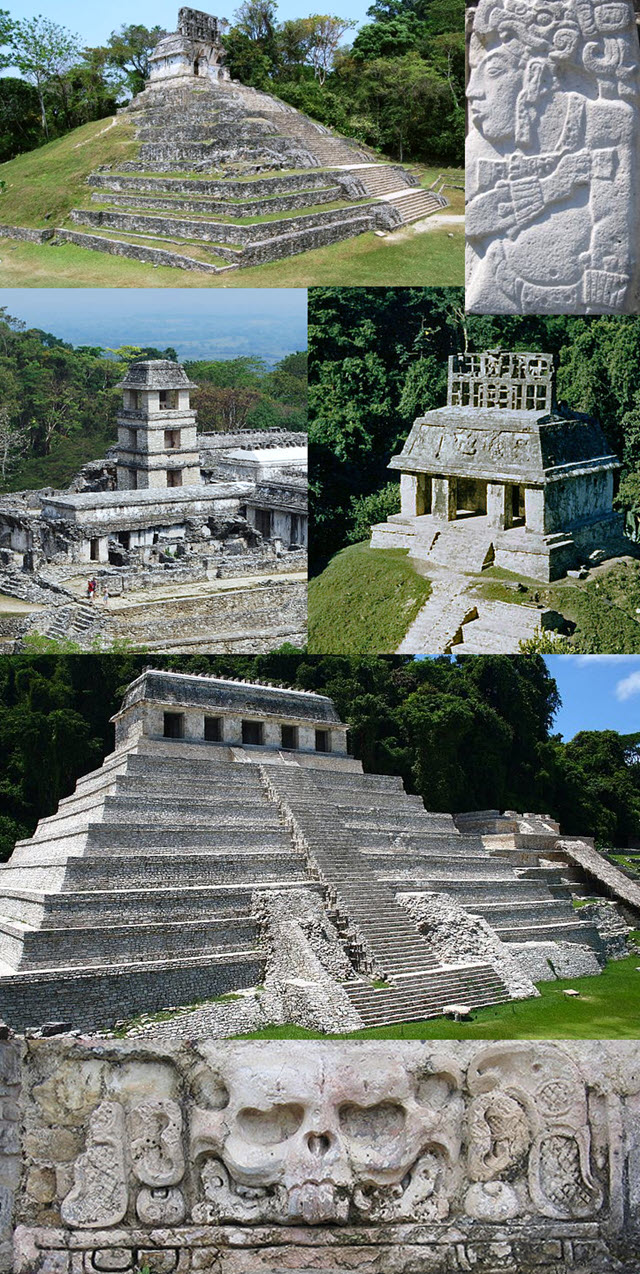 Collage of images of Palenque from different angles