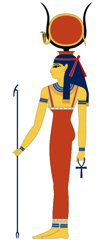 Hathor's most common iconography