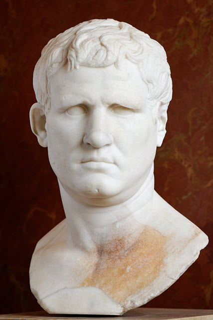 Portrait of Marcus Vipsanius Agrippa ca. 25–24 BC, from Gabii