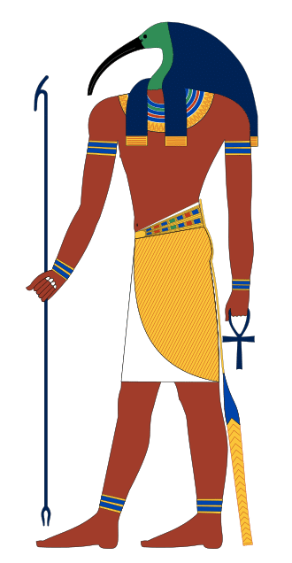 Thoth as ibis-headed man