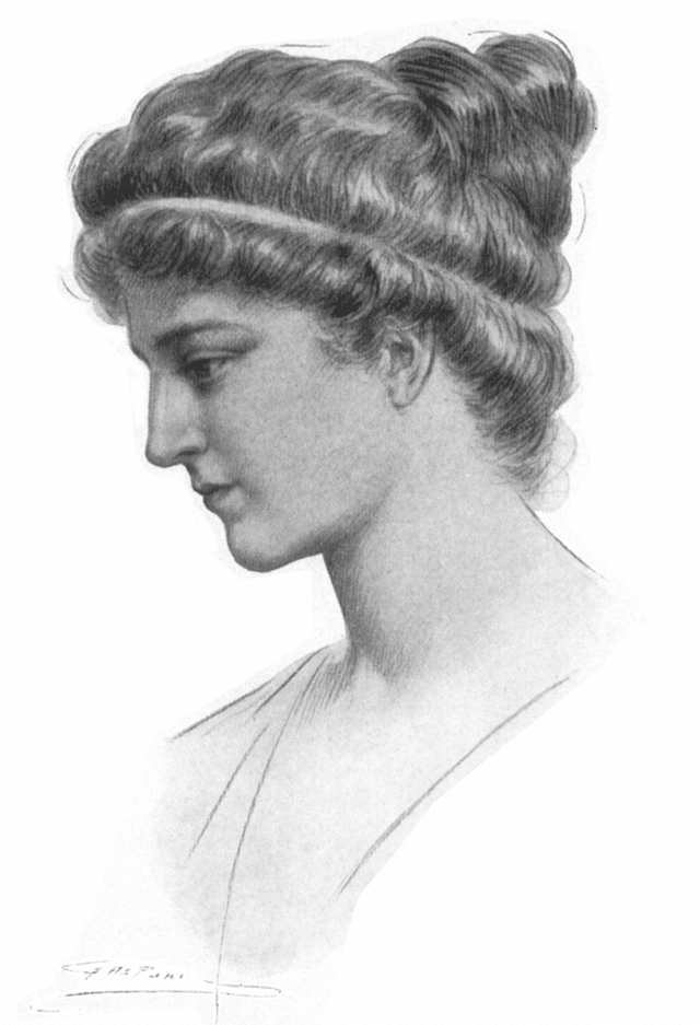 A portrait of Hypatia by Jules Maurice Gaspard