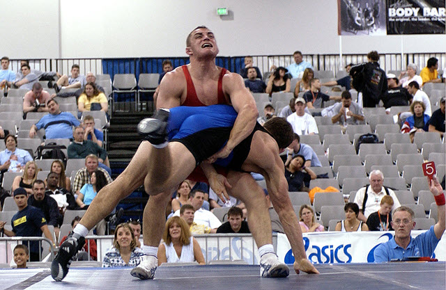 An image of one of the forms of Roman Wrestling -- Greco-Roman Wrestling