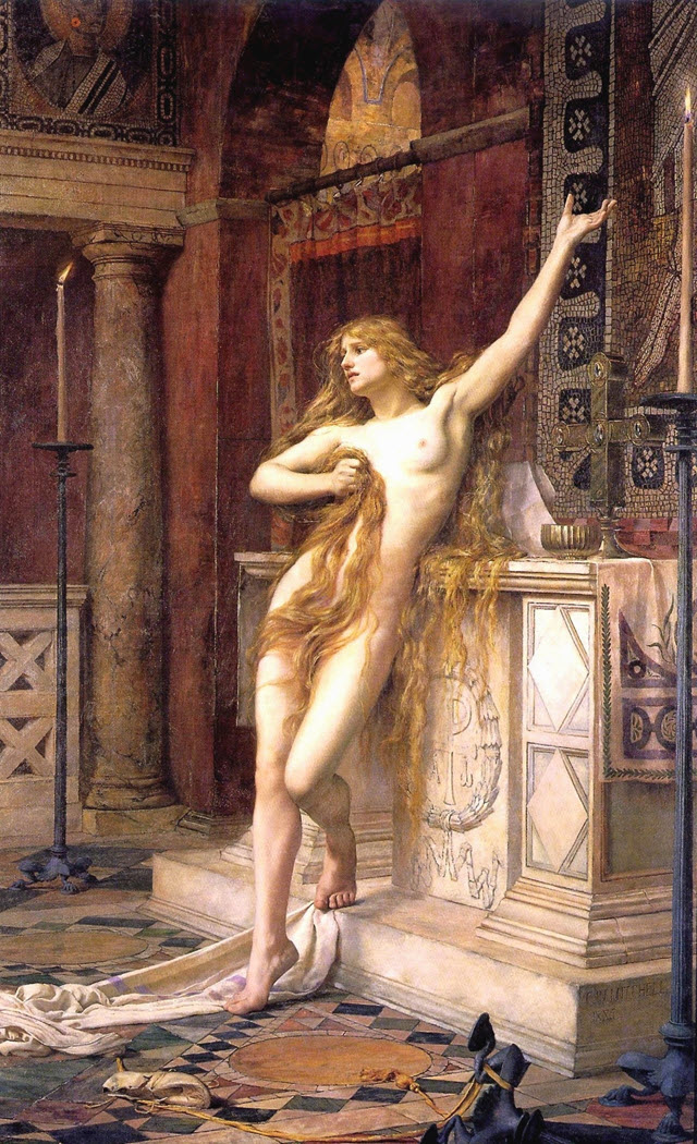 Hypatia - created by Charles William Mitchell  ( 1854 - 1903 )