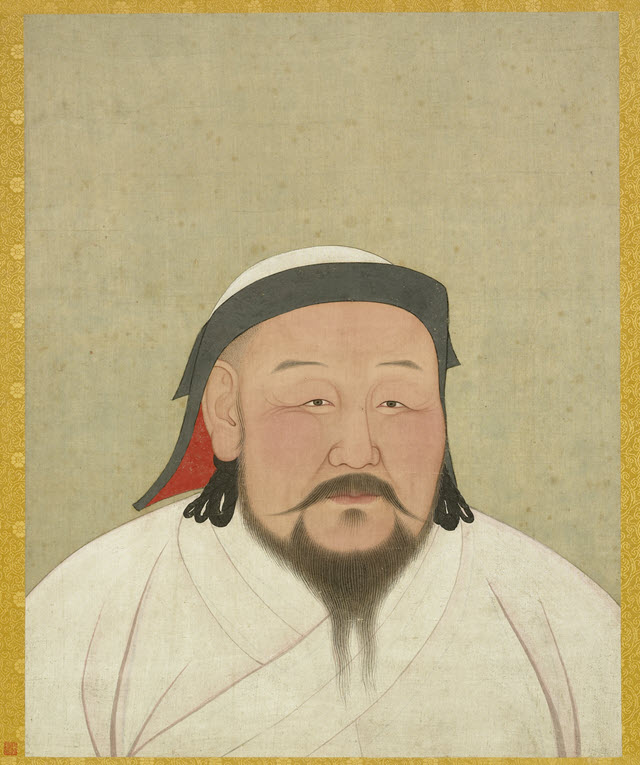 A portrait of Chinese Emperor Shizu of Yuan who is also known as Kublai Khan