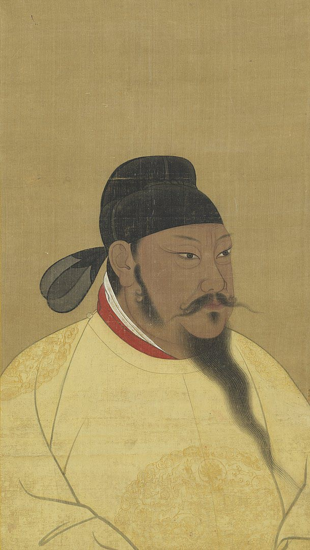A portrait of Chinese Emperor Tang Taizong