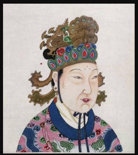 A portrait of Chinese Emperor Wu Zetian