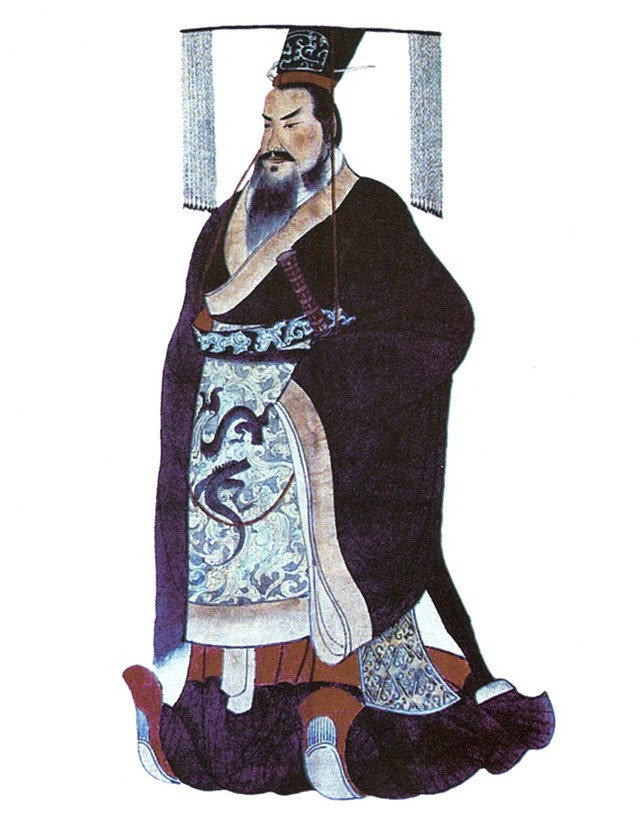 A portrait of the first Emperor of China - Qin Shi Huang