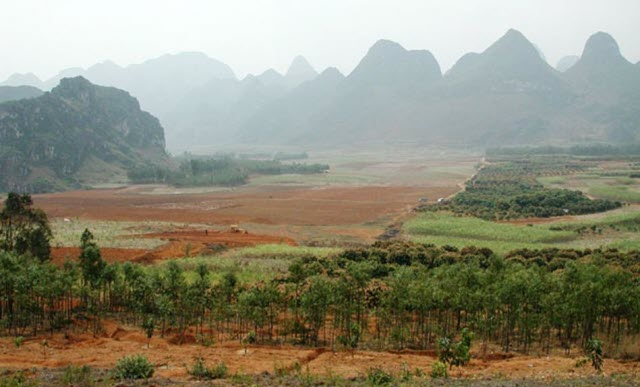 An image of Bose Basin located in Southern China