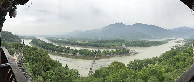 An image of Dujiangyan Irrigation System, Sichuan China
