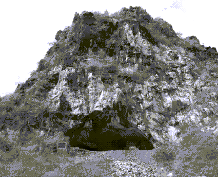 An image of Yuchanyan Cave seen from the Southern part