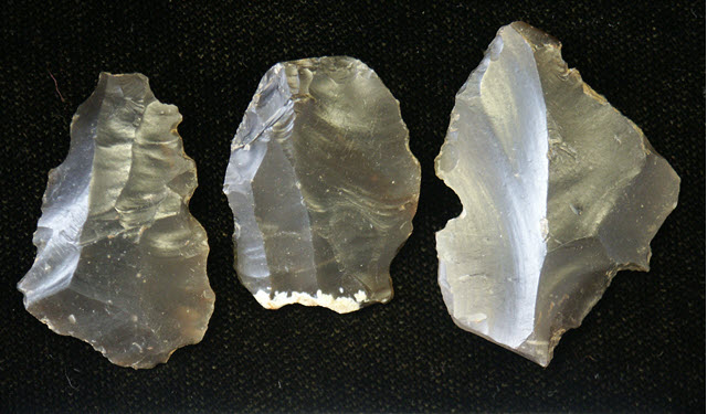 Flint flakes belonging to the Neolithic period