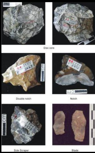 Historical stone pieces discovered in Xiaochangliang, China