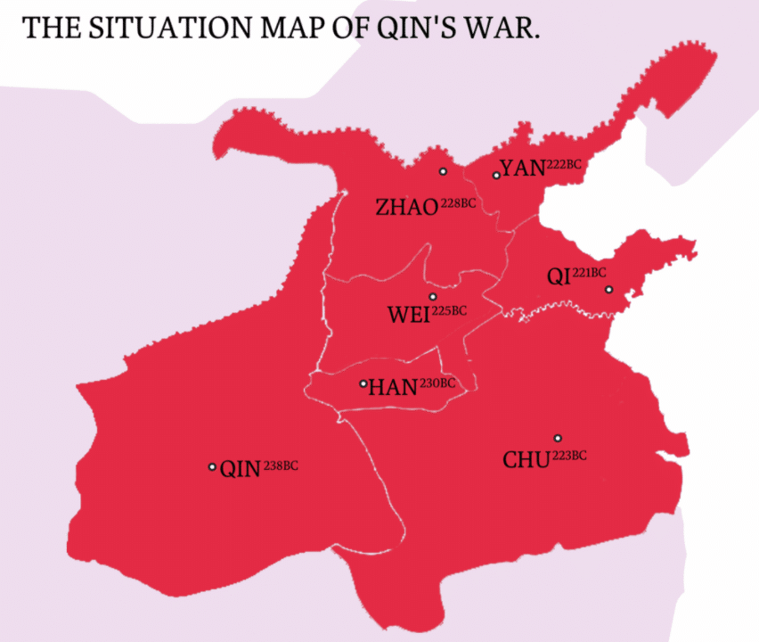The situation map of Qin's War