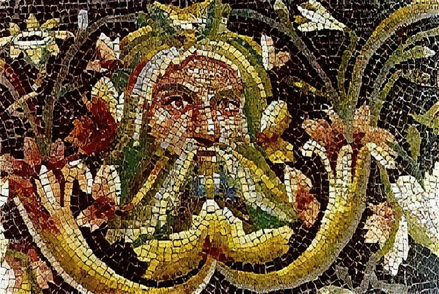A painting of Greek water god Achelous