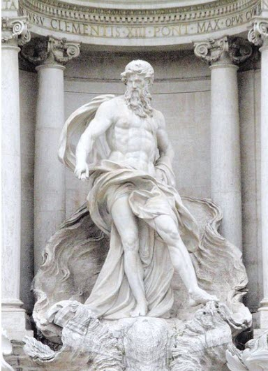 Greek water god Hydrus also known as Hydros