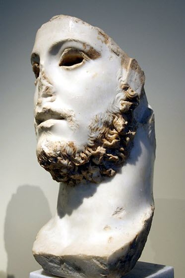A bust of younger Commodus