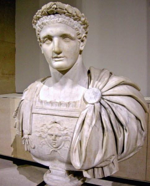 A statue of Domitian