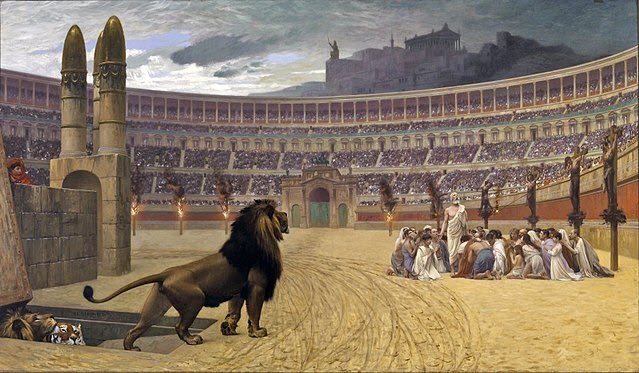 An image of Persecution during Diocletian's reign