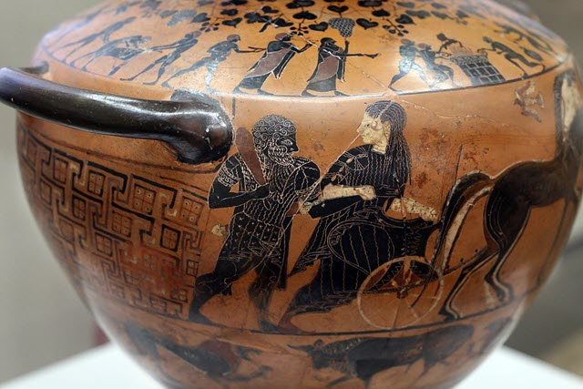 A portrait of Hebe bringing Heracles to Olympus