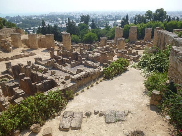 The archaeological site of Roman City Carthage