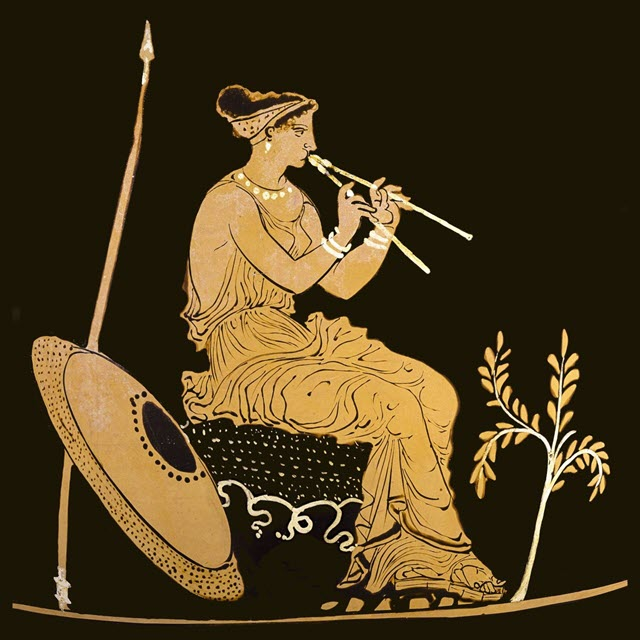 Athena with her flute